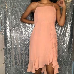 🍑 Peach Knee High Summer Dress 🍑
